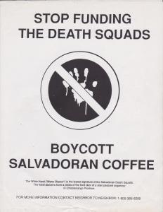 Savadoran Coffee Boycott