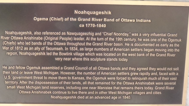Chief Noonday plaque